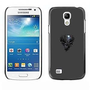 Caucho caso de Shell duro de la cubierta de accesorios de protección BY RAYDREAMMM - Samsung Galaxy S4 Mini i9190 - Gótica Cabra Luna
