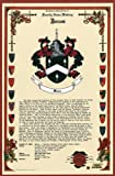 Jones Coat of Arms / Family Crest with Armorial History on Beautiful 11 x 17 Parchment Paper
