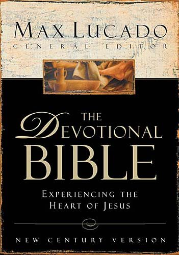The Devotional Bible: Experiencing The Heart Of Jesus, New Century Version, Burgundy, Bonded Leather