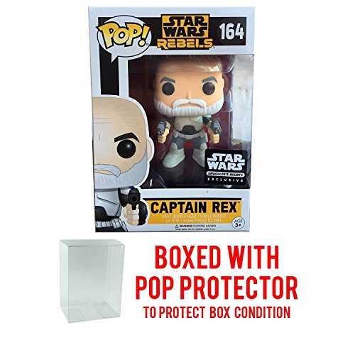Funko Pop Captain Rex Star Wars Rebels Smuggler's Bounty March 2017 Exclusive 164 (Pop with Protector Case)