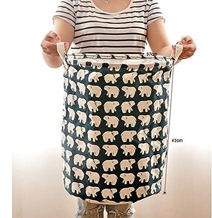 Moolecole Cesta de la ropa plegable de malla Cesta de almacenamiento Organizador para el hogar