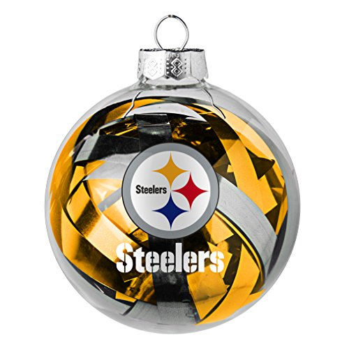 NFL Pittsburgh Steelers Large Tinsel Ball Ornament]()
