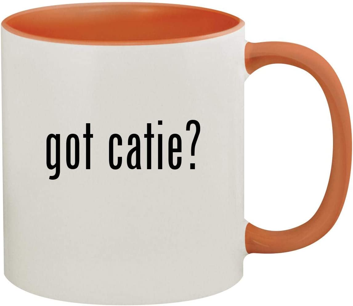 got catie? - 11oz Ceramic Colored Inside & Handle Coffee Mug, Orange