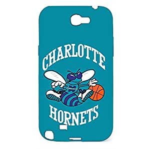 Charlotte?Hornets Turquoise Logo Hard Plastic Case Cover For Samsung Galaxy Note 2 n7100