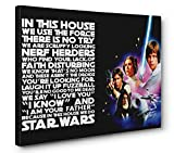 OneCanvas in This House WE DO Star Wars Quote Wall Art Gallery Wrapped Canvas Print (Medium 16x24in.)