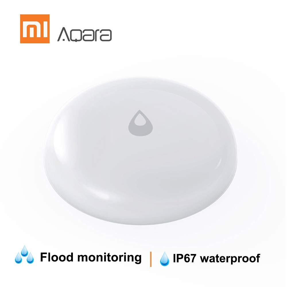 Aqara Sensor de Agua Inteligente Detecci/ón en Tiempo Real Detectores de Agua IP67 Grado de Resistente al Polvo y al Agua