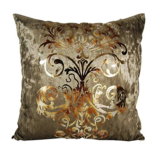 - Prior.choice Luxury Golden Damask Square Hidden Zipper Decorative Cushion Cover Throw Pillow Case 17