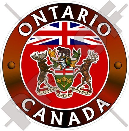 ONTARIO Province Canada Canadian 100mm (4