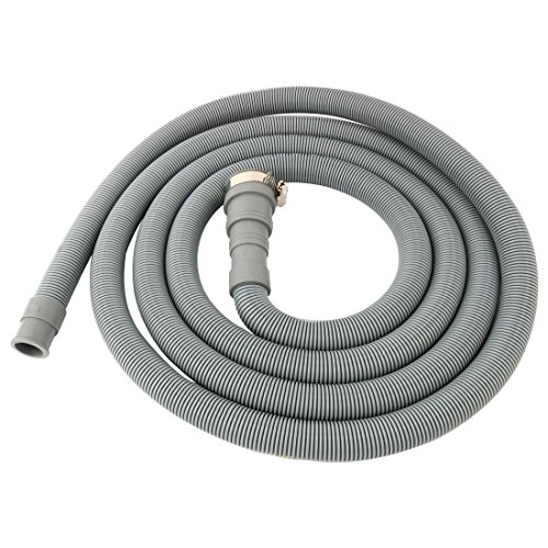 (uxcell PVC Washing Machine Drain Hose Extension Kit, Universal Fit All Drain Hose 9.8 Ft)