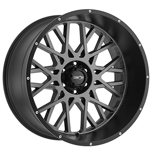 (Vision Rocker 20x12 Gray Black Wheel / Rim 6x5.5 with a -51mm Offset and a 106.2 Hub Bore. Partnumber 412-20283ABL-51)