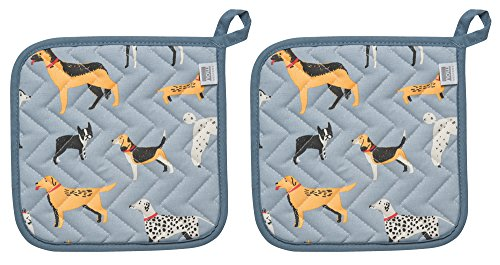 Now Designs Basic Potholder, Set of Two, Dog Days