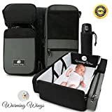 Multipurpose Portable Baby Changing Mat: Foldable travel bassinet, Playpen & Storage