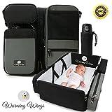 baby playpen portable - Multipurpose Portable Baby Changing Mat: Foldable travel bassinet, Playpen & Storage