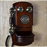 ANDP Upscale hotel / Villa vintage European-style wall-mounted telephones antique telephones metallic rotary dial