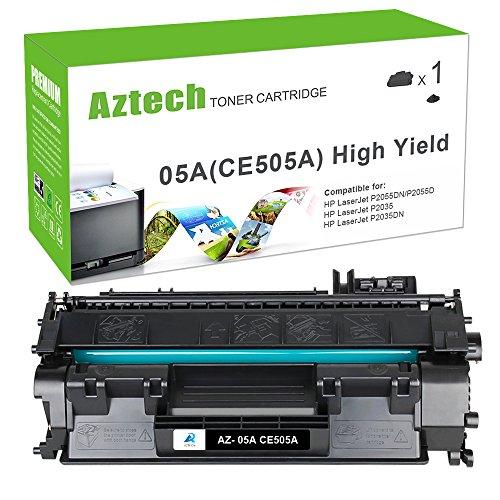 Laserjet Print Cartridge (AZTECH 1 Pack Jumbo 3,500 Pages Yield Black Compatible Toner Cartridge Replaces 05A CE505A CE505 For LaserJet P2030 P2035 P2035N P2050 P2055 P2055D P2055DN P2055X)