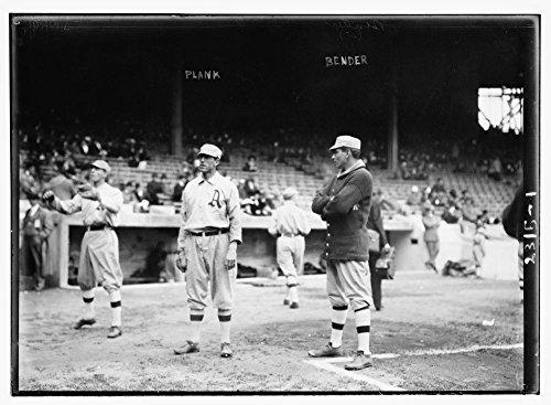 1911 Photo Eddie Plank & Chief Bender, Philadelphia, AL (baseball)
