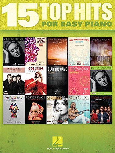 Hal Leonard 15 Top Hits For Easy Piano - 2012 Edition ()