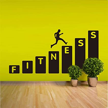 Amazon mikilon fitness step on wall decal inspirationl quotes