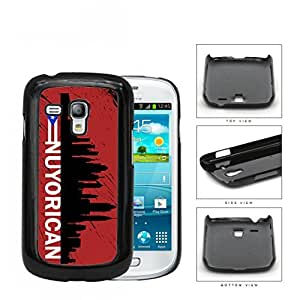 Nuyorican New York City Silhouette Hard Plastic Snap On Cell Phone Case Samsung Galaxy S3 SIII Mini I8200