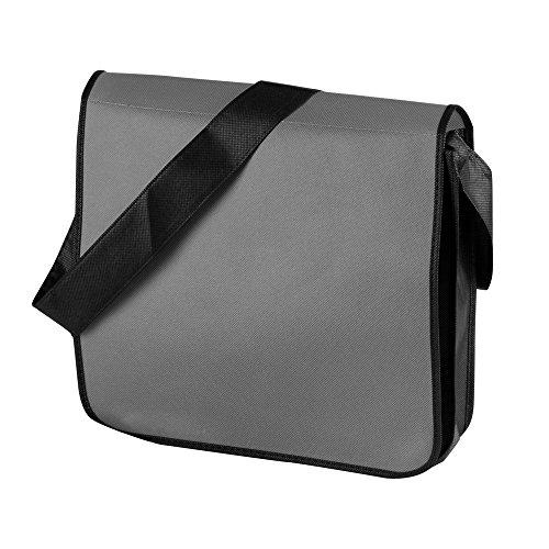 Jassz - Mochila bandolera de plástico Gris/Negro