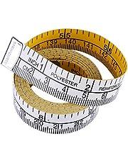 1,5 m dubbelskala mjuka måttband flexibel linjal viktminskning kropp sy skräddare tyg linjal