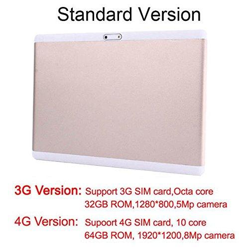 10 Inch Octa Core 4GB IPS Kids Tablet - Standard, 4G 10 Core-Black