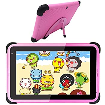 Youngsters Pill 7 Inch Android 10 Pill Youngsters Studying Pill Android WiFi Pill for Kids Toddlers Bluetooth for Residence Faculty Mum or dad Management Academic Pill with Child-Proof Case (Pink)
