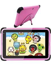 Kids Tablet 7 inch Android Tablet PC voor kinderen, Android 10.0, 2 GB RAM 32 GB Rom, Tablet voor kinderen met Kids-Proof case en Stylus Pen, Dual Cameras, Ouderlijk toezicht (Roze)