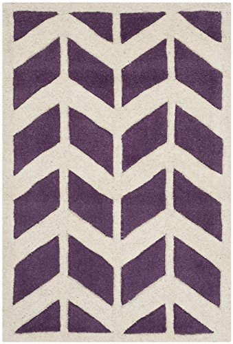 Safavieh Chatham Collection CHT746F Handmade Purple and Ivory Premium Wool Area Rug (2' x 3')
