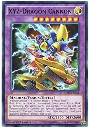 YU-GI-OH CARD SDKS-EN042-1st EDITION XYZ-DRAGON CANNON