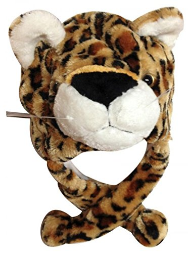 Leopard_Cute Cartoon Animal Winter Hat Plush Warm Fluffy Soft Lovely - Unisex (US Seller) (Air Jordan 7 Retro Cardinal)