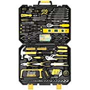 #LightningDeal 81% claimed: DEKOPRO 168 Piece Socket Wrench Auto Repair Tool Combination Package Mixed Tool Set Hand Tool Kit with Plastic Toolbox Storage Case