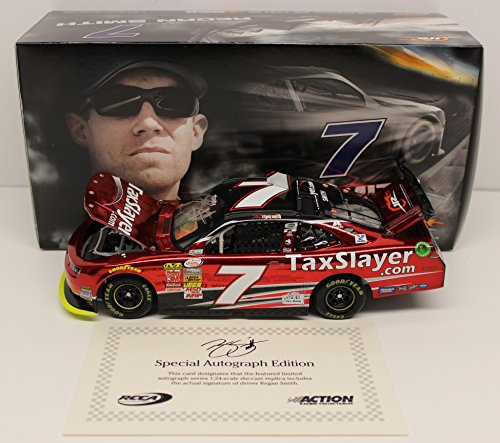 Regan Smith 2015 Taxslayer Autographed 1:24 Color Chrome Nascar Diecast (Regan Smith 1 24)