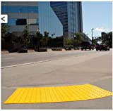 UltraTech 0751 Urethane Retrofit Ultra-ADA Warning Pad with Raised Truncated Dome Design, 4' Length x 2' Width, Yellow