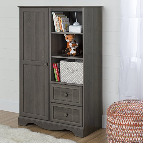 Maple Baby Crib (South Shore Savannah Armoire with Drawers, Gray Maple)