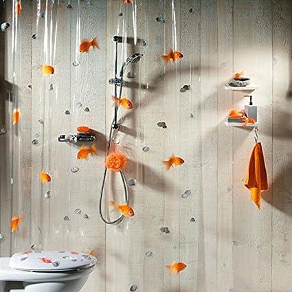 Amazon MZPRIDE Goldfish Orange Plastic Shower Curtain 100 PVC