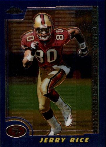 2000 Topps Chrome Football Card #45 Jerry Rice Near Mint/Mint (Mint Rice Near)
