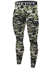 New NP542 Camo Men Skin Tights Compression Base Under Layer Sports Long Pants