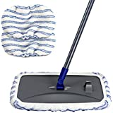 Masthome Large Area Cleaning Hardwood Floor Microfiber Mop Flat Wet Mops With 2 Mop Refills