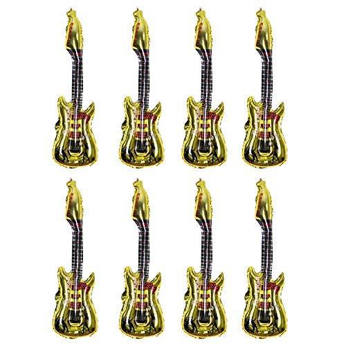Curitely 8 Piezas Dibujos Animados Guitarra Hinchable Globos ...