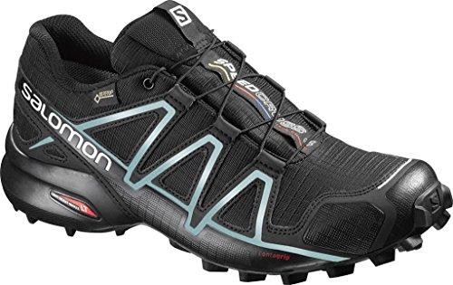 ジャベスウィルソン案件流星Salomon(サロモン) レディース 女性用 シューズ 靴 スニーカー 運動靴 Speedcross 4 GTX - Black/Black/Metallic Bubble Blue 7 B - Medium [並行輸入品]