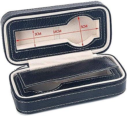 AG Caja de reloj de madera Cajas Para Joyas Hombre Mujer Regalo Viaje Cuero Cremallera portátil artificial Bolsa de almacenamiento negra 18 * 8.5 * 6Cm: Amazon.es: Bricolaje y herramientas