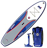 Mistral Adventure Inflatable Stand Up Paddle Board (iSUP), 10'5'' x 31'' x 6'', White/Gray