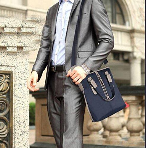 Textura Bolso Handcarry Cartera Manera Ocasionales La Los Del Blue2 La De Tela De Oxford Hombres pg0OwqA