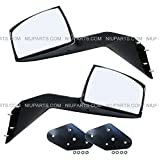 Hood Mirror Chrome Driver & Passenger Side with Mounting Kits (Fit: Volvo VNL VNM Truck)