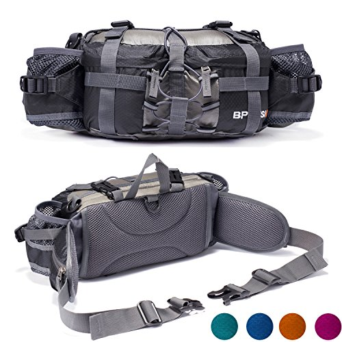 Yuoto outdoor fanny pack hiking camping hunting ski for Fishing waist pack