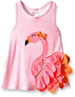 Mud Pie Little Girls' Flamingo Dress