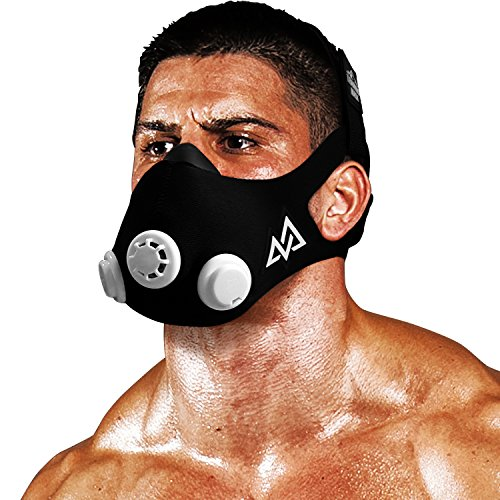 TRAININGMASK Training Mask 2.0 Original Elevation Training Mask | Fitness Mask, Workout Mask, Running Mask, Breathing Mask, Resistance Mask, Elevation Mask, Cardio Mask (Black & White, Large) ()