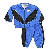 Tampa Bay Lightning NHL Little Boys Retro Crinkle Wind Suit Set, Royal-Black
