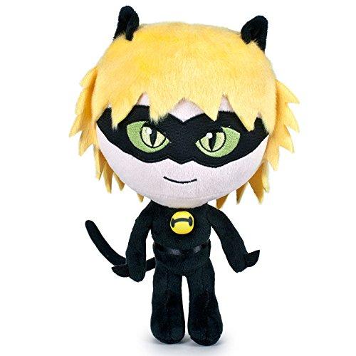 Miraculous Ladybug Peluche peluche, jouets mous, original, 3 personnages différents disponibles! (Chat Noir) (Chat Noir(Black&Yellow))